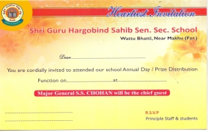 March 1 2018 Sri Guru Hargobind Sahib Sen Sec School Wattu